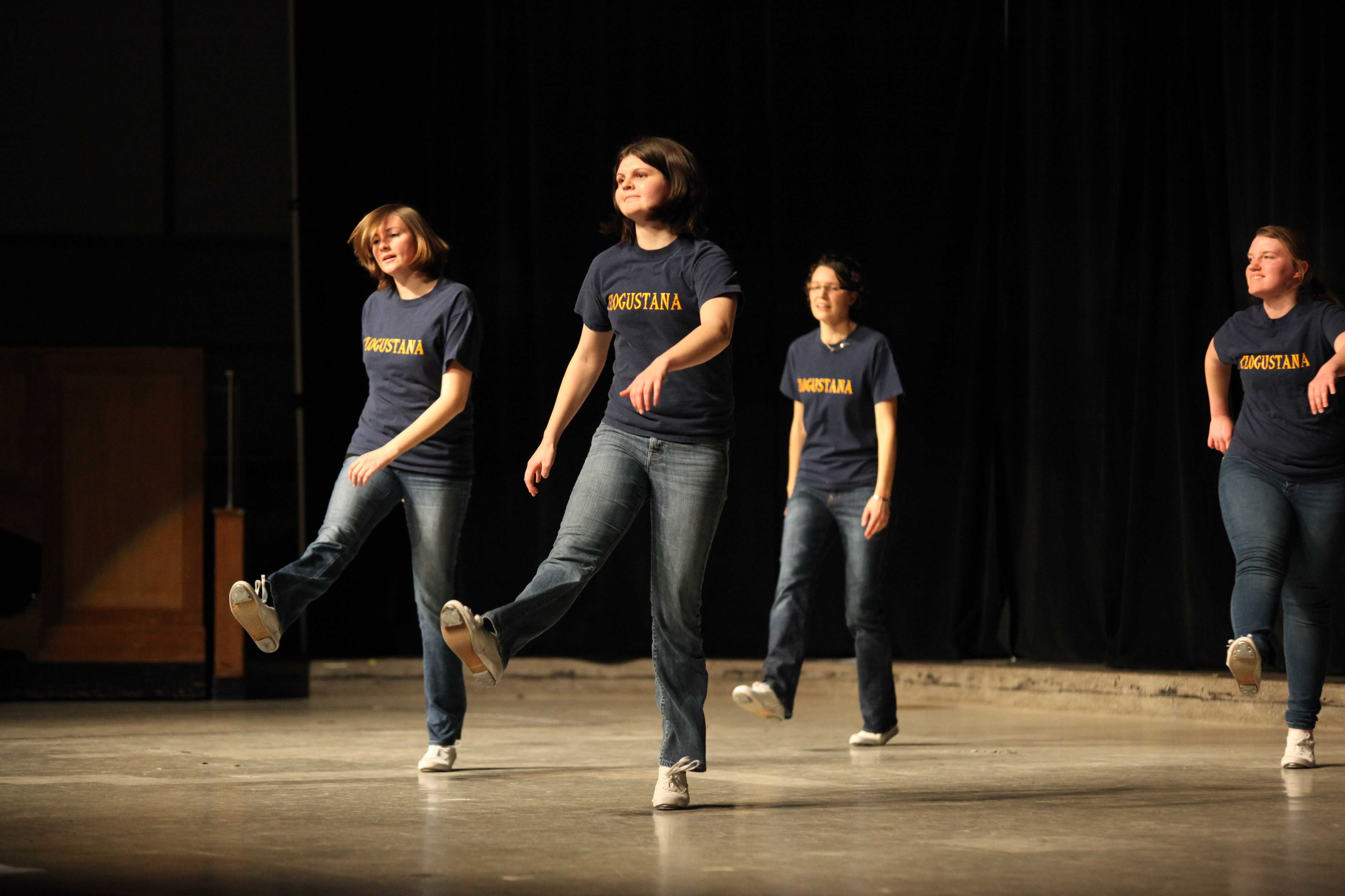 Clogustana performs their showcase on Jan. 23 in Centennial Hall.