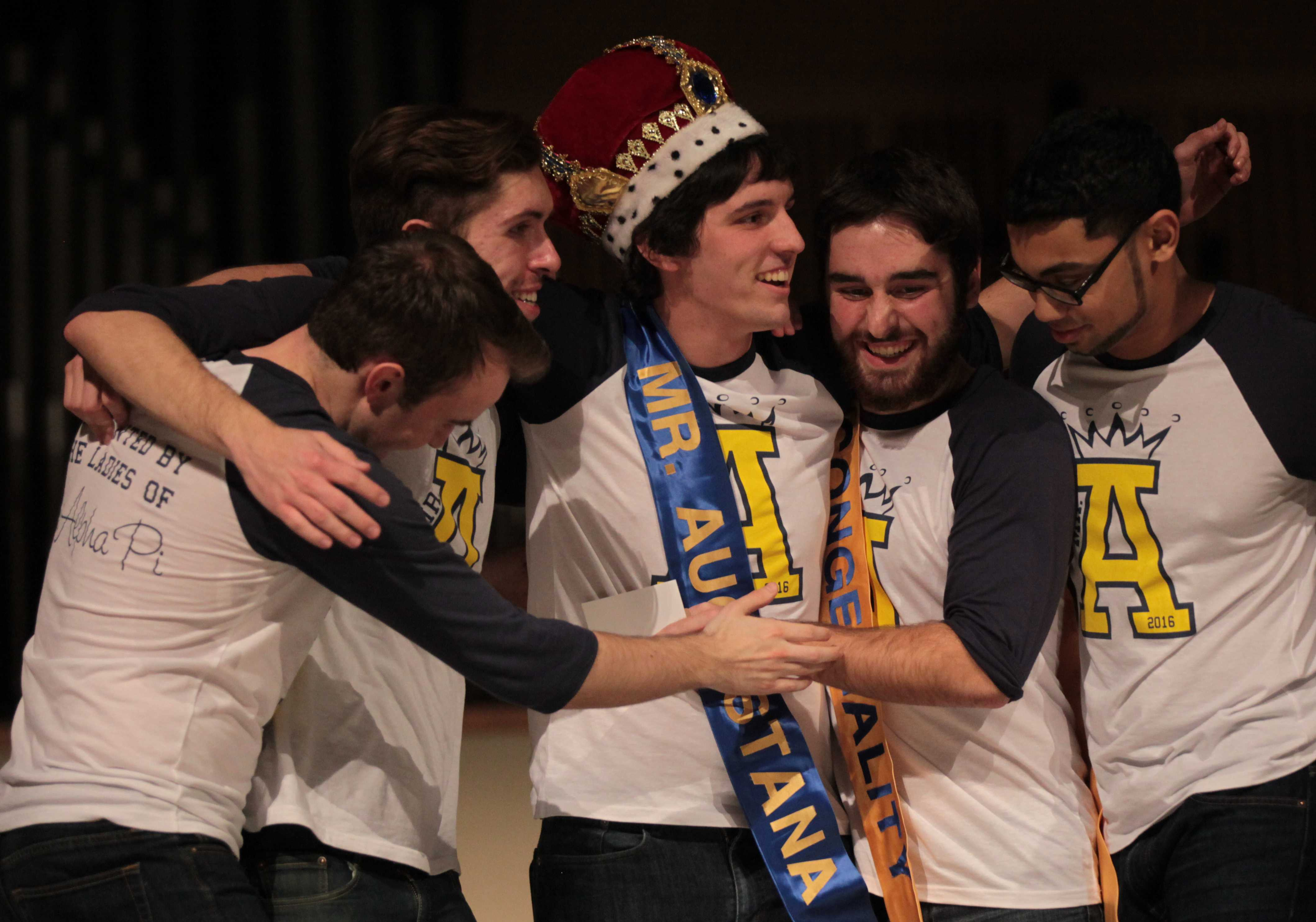 Jake Fiesler is crowned Mr. Augustana 2016. Photo by LuAnna Gerdemann.
